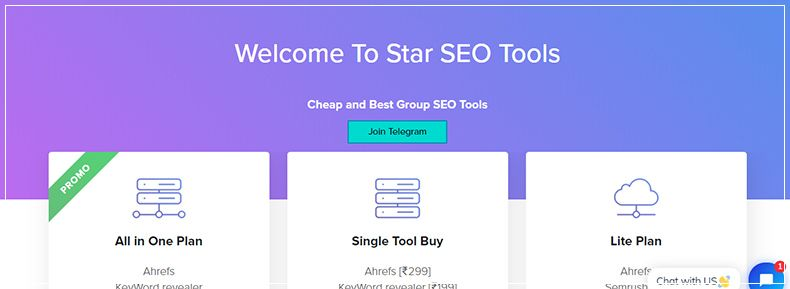 StarSEOtools.com - Flat ₹50 off with  StarSEOtools coupon on All in One Plan