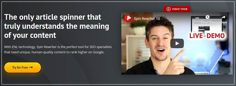 SpinRewriter.com Banner